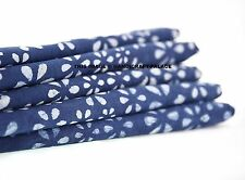 India Blue Color Dressmaking Craft Decorative Cotton Fabric Sewing By 2.5 Yard