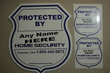 Custom 1 YARD SIGN 2 SECURITY STICKER  SURVEILLANCE Home Alarm DECAL WINDOW