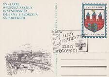 Poland postmark BYDGOSZCZ - medicine Red Cross blood donation