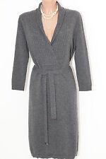 Hugo Boss Wolle Kleid Gr M / 40 NEU Grau !Prachtstück! R706