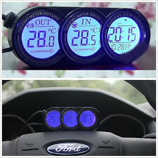 3In1 Blue/Orange LED Backlight Digital Display Thermometer Clock Car SUV
