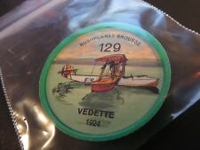 1961 JELL-O HOSTESS AIRPLANE SERIES COIN #129 1924 VEDETTE HIGH GRADE