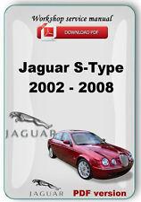 Jaguar S type 2000 - 2008 electrical diagram and workshop repair manual