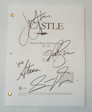 CASTLE cast signed script Nathan FILLION Stana KATIC Jon HUERTAS Seamus DEVER