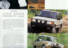 1998 LAND ROVER PRODUCT LINE BROCHURE  POSTER  RANGE ROVER  DISCOVERY