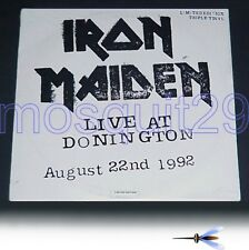 """IRON MAIDEN """"LIVE AT DONINGTON"""" RARE TRIPLE LP MADE IN ITALY - SEALED"""
