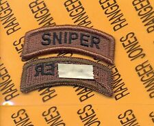 US ARMY SNIPER OD Green & Black TAB patch m/e