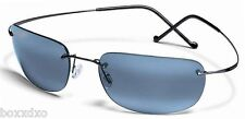 NEW Maui Jim 502-02 Kapalua Gunmetal Light Titanium Frame Sunglasses Grey Lens