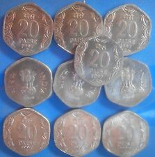 1997 ( RARE )  -  Aluminium 20 Paise - india - 1 COIN - HIGH GRADE.