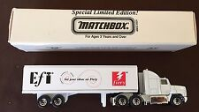 Matchbox 1:64 Scale Special Limited Edition 1997 EFI Fiery Truck & Trailer