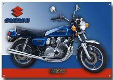 SUZUKI GS1000E DOHC CLASSIC MOTORCYCLE METAL SIGN.VINTAGE JAPANESE MOTORCYCLE.