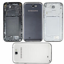 Samsung Galaxy Note 2 N7100 Full Body housing Chrome+Back cover case panel Black