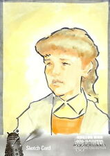 Dr Doctor Who Big Screen Additions Mono Sketch Card by Ingrid Hardy /3