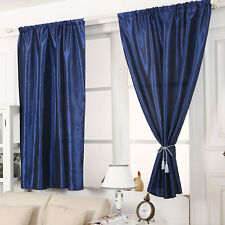 Slot Top Thermal Blackout Curtain Energy Saving Eyelet Ready Made Curtains New
