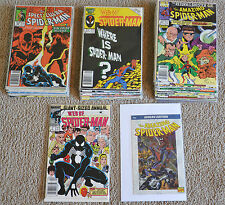 Mix Lot of 35 Web of/ The Amazing/ The Spectacular Spiderman Comic lot 1986-1994