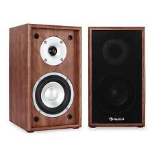 NEW 150W HIFI HOME CINEMA BOOKSHELF SPEAKER SURROUND SOUND SYSTEM PAIR - WALNUT