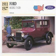 1911-1927 FORD MODEL T (GB) Classic Car Photograph / Information Maxi Card