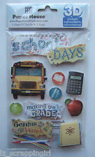 ~SCHOOL DAYS~ Paper House Productions 3D Stickers; BUS, Elementary, Teachers