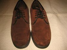 NWOB HUSH PUPPIES BROWN SUEDE LACE UP OXFORDS SIZE 6.5 MED NWOB