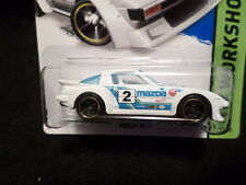 HW HOT WHEELS 2015 HW WORKSHOP #193/250 MAZDA RX-7 HOTWHEELS WHITE