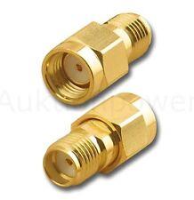 Reverse Adapter RP-SMA Stecker auf SMA Buchse GPS,WLAN Antenne vergoldet *NEU*