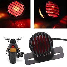Schwarz Motorrad Rücklicht Bremslicht Lampe Schild Licht für Harley Chopper Dyna