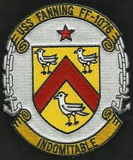 USS FANNING FF-1076 Knox Class Frigate Military Patch INDOMITABLE