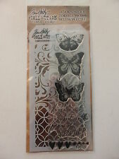 *BRAND NEW* TIM HOLTZ Stamp & Stencil Set 'Watercolor Butterflies'