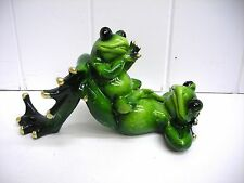 G61179 FROG BABY LAYING PAIR COUPLE STATUE DECORATION FIGURINE GSC