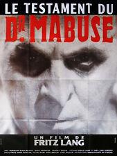 Affiche 120x160cm LE TESTAMENT DU DOCTEUR MABUSE 1933 Fritz Lang R2003 TBE #