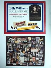 1987 Baseball Hall of Fame Billy Williams Commemorative Print Wrigley Field