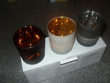 Partylite SAFARI CHIC TEALIGHT TRIO  by JONATHAN ADLER NIB