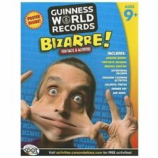 Guinness World Records Bizarre! 196 p kids fun reading learning book Ages 9+