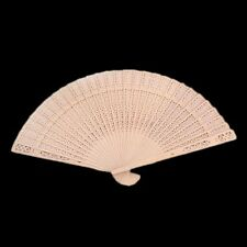 Hand Carved Flower Hollow Wedding Chinese Style Wooden Folding Fan Bamboo