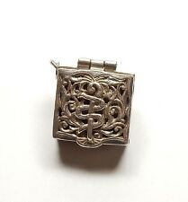 Vintage 925 Sterling Silver ROD OF ASCLEPIUS PILL BOX Charm Pendant 7.5g