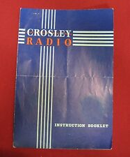 Vintage Crosley Radio Model 56TG Instruction Booklet In Nice Shape w Pictures T5