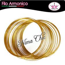 OFFERTA 1 bobina di filo armonico 20 GIRI da 55mm colore oro, MINUTERIA BIJOUX
