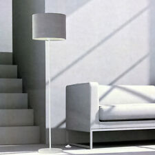 Stehleuchte mit Textilschirm Grau LED 9,8W Lampe Leuchte warmweiß Standleuchte