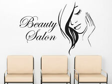 Wall Decals Beauty Salon Model Girl Face Decal Vinyl Sticker Beauty Salon MS642