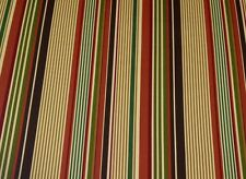 RICHLOOM MORRIS SPICE RED STRIPE OUTDOOR FURNITURE MULTIUSE FABRIC BY THE YARD