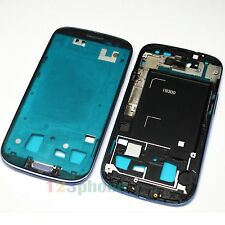 HOME + VOLUME + FRONT MIDDLE FRAME CHASSIS HOUSING FOR SAMSUNG S3 i9300 #BLUE