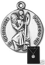 Saint Christopher Pewter Medal with 20 inch chain