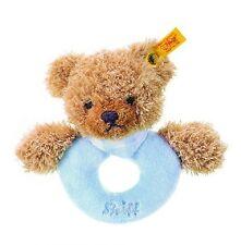Steiff Baby Schlaf Gut Bär Greifring mit Rassel 12cm blau Geschenk Neu 237058
