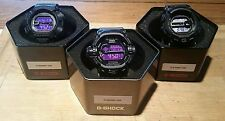 "Casio G-Shock ""Men in Dark Purple"" Series - MUDMAN, GULFMAN & RISEMAN Set!!!"