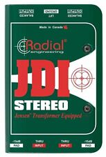 Radial Engineering JDI Stereo Passive Direct Box NEW! FREE 2-DAY DELIVERY!