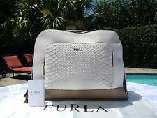 FURLA FRIDA SHOULDER CALF LEATHER BAG 739523 PETALO WHITE NWT $548 MINT!