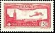 "FRANCE STAMP STAMP PLANE NO. 5 "" PLANE FLYING OVER 1F50 MARSEILLE "" NEW XX TTB"