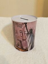 NEW YORK TIN CAN METAL COIN MONEY BANK **Cute ~ Great Gift ** Savings Piggy Bank