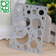 Hollow Circle Cutting Dies Stencil Scrapbooking Album Paper Card Embossing DIY
