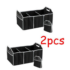 2x Car Truck Auto Storage Bin Bag Trunk Organizer Collapsible Folding Box OU
